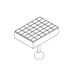 Solar battery icon isometric 3d style vector