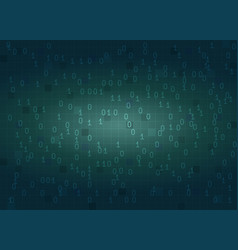 Abstract binary code digital background vector