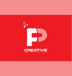 alphabet letter p red technology white logo vector image vector image