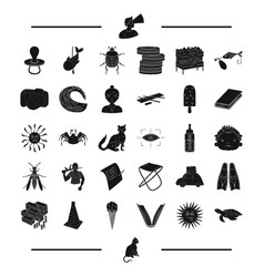 Animal rest insect and other web icon in black vector