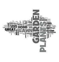Beautify with garden plants text word cloud vector