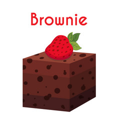 Brownie chocolate pie cupcake pastry vector