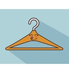 Clothespin character face icon vector