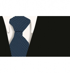 Collar tie shirt business vector