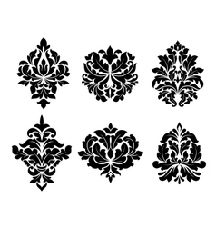 Collection of six different arabesque designs vector image vector image