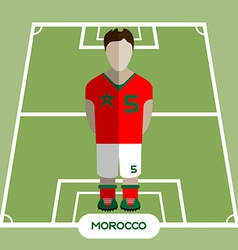 Computer game morocco soccer club player vector