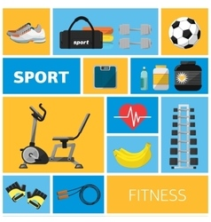 Concept of the gym sport equipment vector
