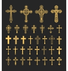 Cross icons set vector image vector image