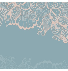 Decorative element border abstract invitation card vector
