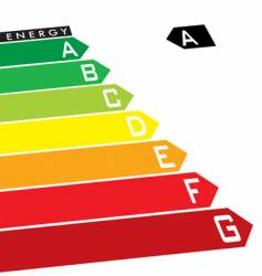 energy rating vector image