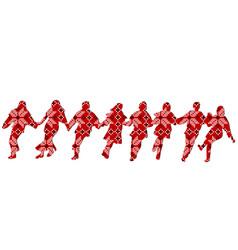 ethnic decoration patterned dancers vector image vector image