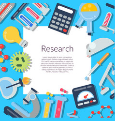 flat style science icons background with vector image