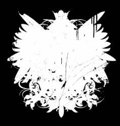 grunge heraldry shape vector image vector image