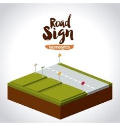 Isometrics road sign design vector
