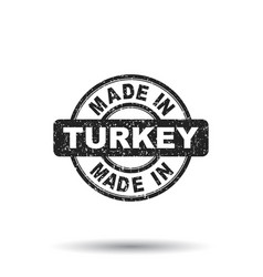 Made in turkey stamp on white background vector