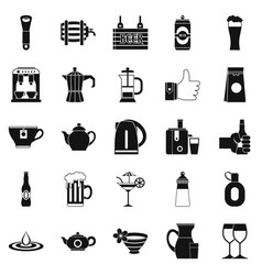 Malt icons set simple style vector