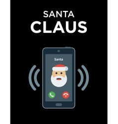 Marry christmas phone call from santa vector