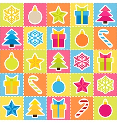 Multicolored holiday background seamless pattern vector