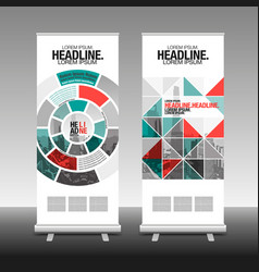 Roll up business brochure flyer banner design vector