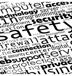 Safety programming backgroynd vector image