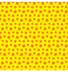 Seamless star texture Orange yellow background vector image vector image