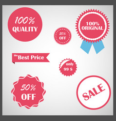 Set of e-commerce design elements vector