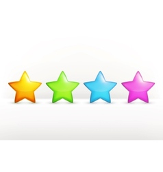 Stars icon set vector image