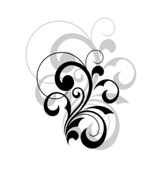 Stylish swirling calligraphic design element vector