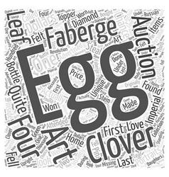 Unique faberge eggs word cloud concept vector