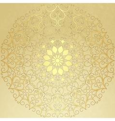 Gold round pattern vector