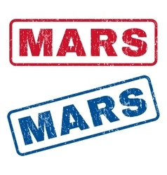 Mars rubber stamps vector
