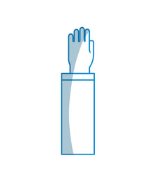 contour hand up with formal suit vector image