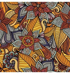 Autumn floral seamless pattern vector