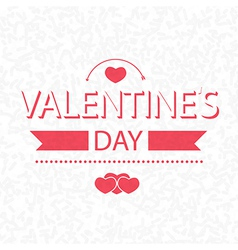 Valentines day on scribble abstract pattern white vector