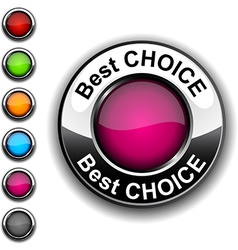 Best choice button vector