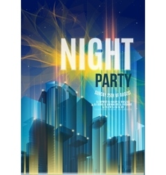 Night party blue flyer template - eps10 vector