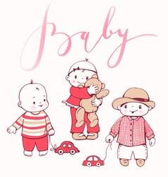 Babies vector