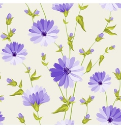Chicory pattern vector image vector image