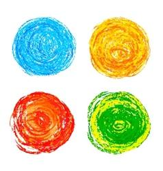 Colorful pencil strokes vector image
