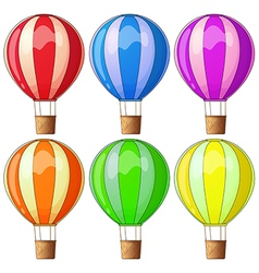 Colourful hot-air balloons vector image vector image