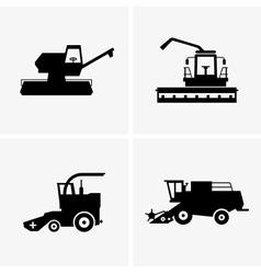 Combine harvesters vector image vector image