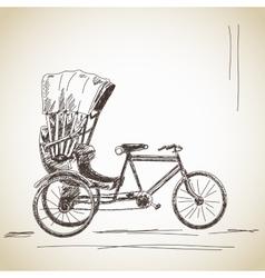 Cycle rickshaw vector