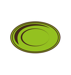 Dish plate tool kitchen image vector