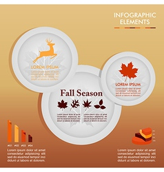 Fall season infographic plates autumn graphics vector