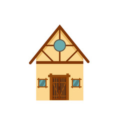 family house isolated icon vector image vector image