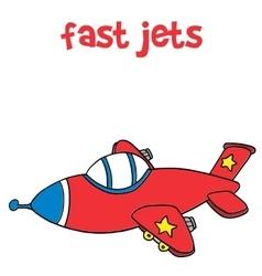 Fast jet transportation cartoon for kids vector