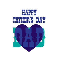 Fathers day blue heart vector