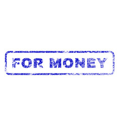 For money rubber stamp vector