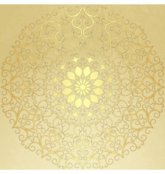 gold round pattern vector image