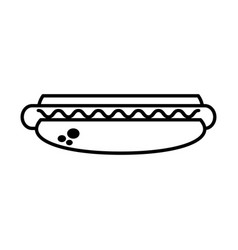 Hot dog food picnic outline vector